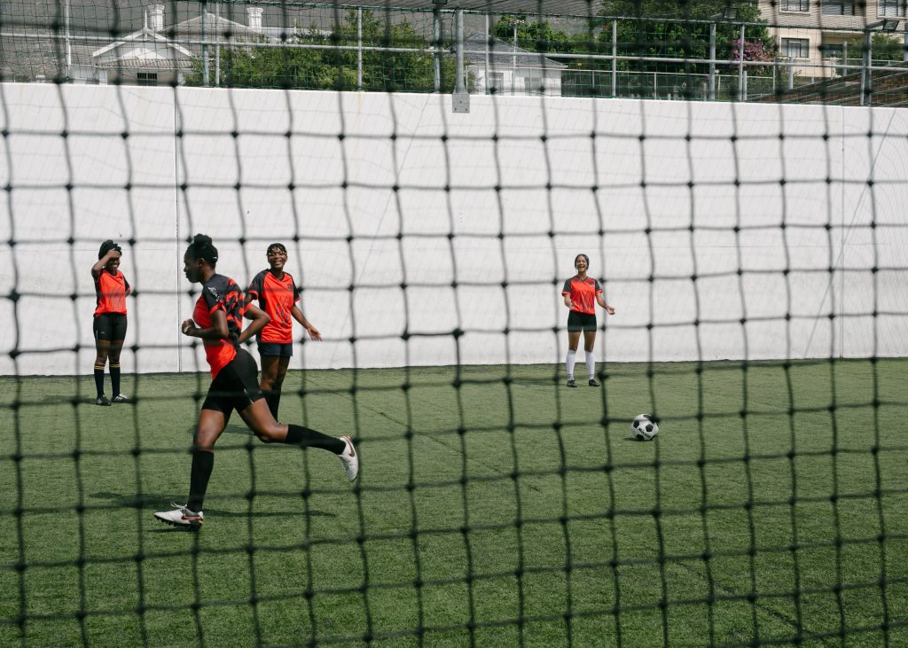 Womans Soccer Condition Training
