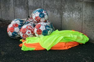 Soccer Training Equipment With A Football