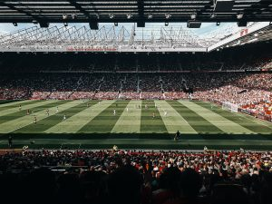 Manchester United Playing At Old Trafford
